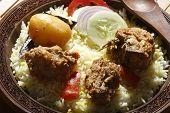 stock photo of biryani  - Sindhi biryani prepared from mutton - JPG