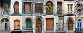 Set Of Colorful Wooden Doors Of Tallinn