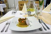 Traditional Vegetable Ratatouille And Pig Meat
