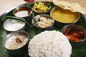 Malabar Thali from India