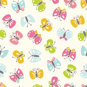 background with colorful butterfies