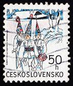 Postage Stamp Czechoslovakia 1991 Three Kings, Christmas