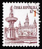 Postage Stamp Czechoslovakia 1993 View Of Ceske Budejovice