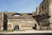 Tourists On Caracalla's Baths Site