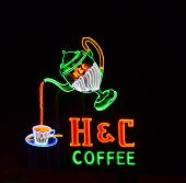 H & C Coffee Neon Sign