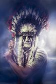image of tomahawk  - American Indian warrior - JPG