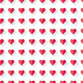 Pink abstract Valentine's heart pattern. Vector illustration.