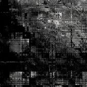 art abstract grunge dust textured monochrome background in black, grey and white colors