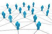 Business Human Social Network.
