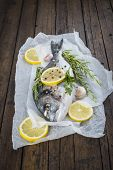Fresh Fish With Lemon Herbs And Spices To Cook