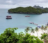 Angthong national marine park close to Koh Samui,