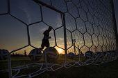 Greek Superleague Brazuca (mundial) Balls In Net During Paok Training In Thessaloniki, Greece.