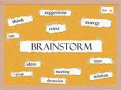 Brainstorm Corkboard Word Concept