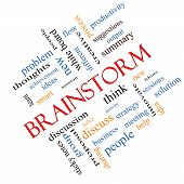 Brainstorm Word Cloud Concept Angled