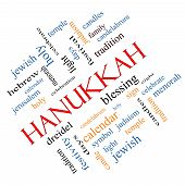 Hanukkah Word Cloud Concept Angled