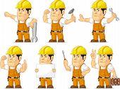 Strong Construction Worker Mascot