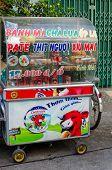 Mobile vendor selling The Vietnamese sandwich