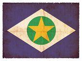 Grunge Flag Of Mato Grosso (brazil)