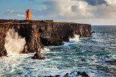 Western Icelandic coast and the lighthouse at Snaefellsnes Peninsula