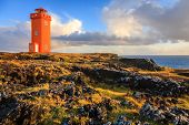 Lighthouse at Snaefellsnes Peninsula in western Iceland