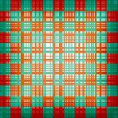 Grunge chessboard vector background.