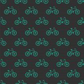 Bicycle  Seamless Pattern Background