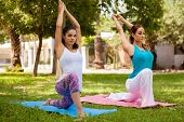 Pretty Women Doing Yoga