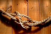 American West Rodeo Rope On Barn Wood