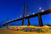 Vasco Da Gama Bridge By Night