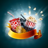 foto of clapper board  - Popcorn box - JPG