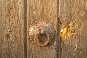 Door knob on old house in Pristina