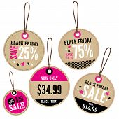 Black Friday Retail Labels