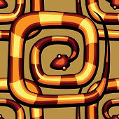 abstract serpent pattern