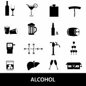 Alcohol Icons Set Eps10