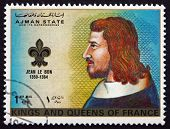Postage Stamp Ajman 1972 John Ii, King Of France