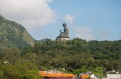Hongkong-July 4,2014: Tian Tan Buddha on Lantau Island