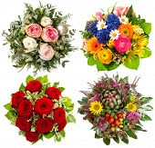 Four Colorful Flowers Bouquet For Seasons