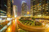 Hong Kong Central Skyline at night