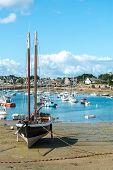 Harbor Of Saint Guirec At Low Tide (france)
