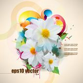 eps10 vector multicolor grunge flower concept background