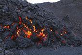 molten volcanic rock