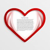 Background With Red Hearts. Vector Illustration.