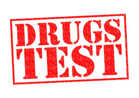 stock photo of methadone  - DRUGS TEST red Rubber Stamp over a white background - JPG