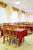 Interior of a restaurant