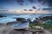 Fishing Boat On Cape Cornwall