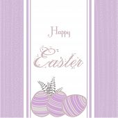Easter Background With Eggs Vintage Pink