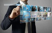 businessmen and Reaching images streaming, digital photo album