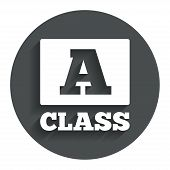 A-class sign icon. Premium level symbol.