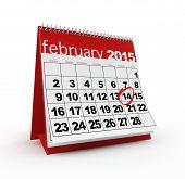 picture of february  - February 2015 calendar - JPG