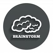 Brainstorm sign icon. Intelligent smart mind.